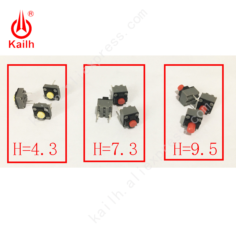 Kailh Micro Switch 6 6 4 3 7 3 9 5mm square Silent switch ireless mouse wired mouse DIP microswitch Tact Switch
