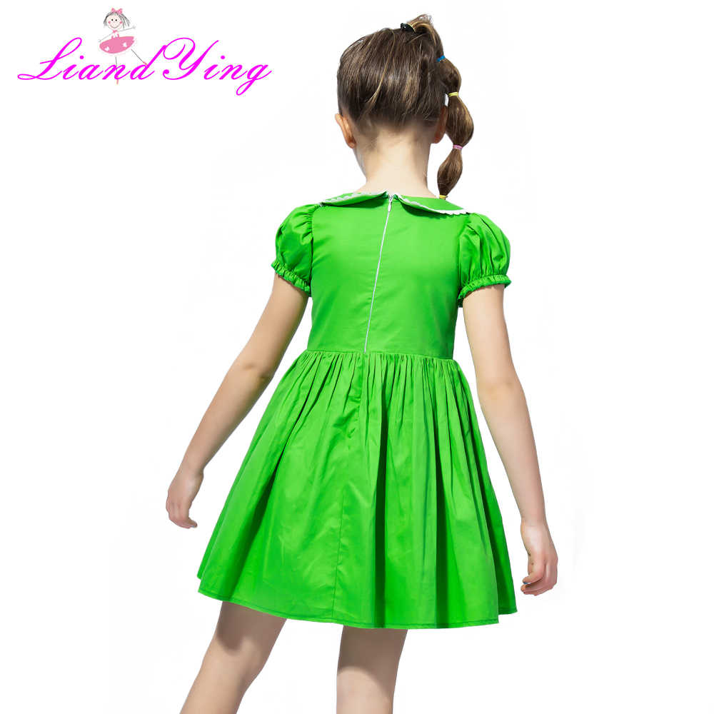 c3662c419880d Flower Girl Dress Vintage Cotton Green Color Dress 2018 Summer Princess  Wedding Party Dresses Children Clothes Size 2-12Y