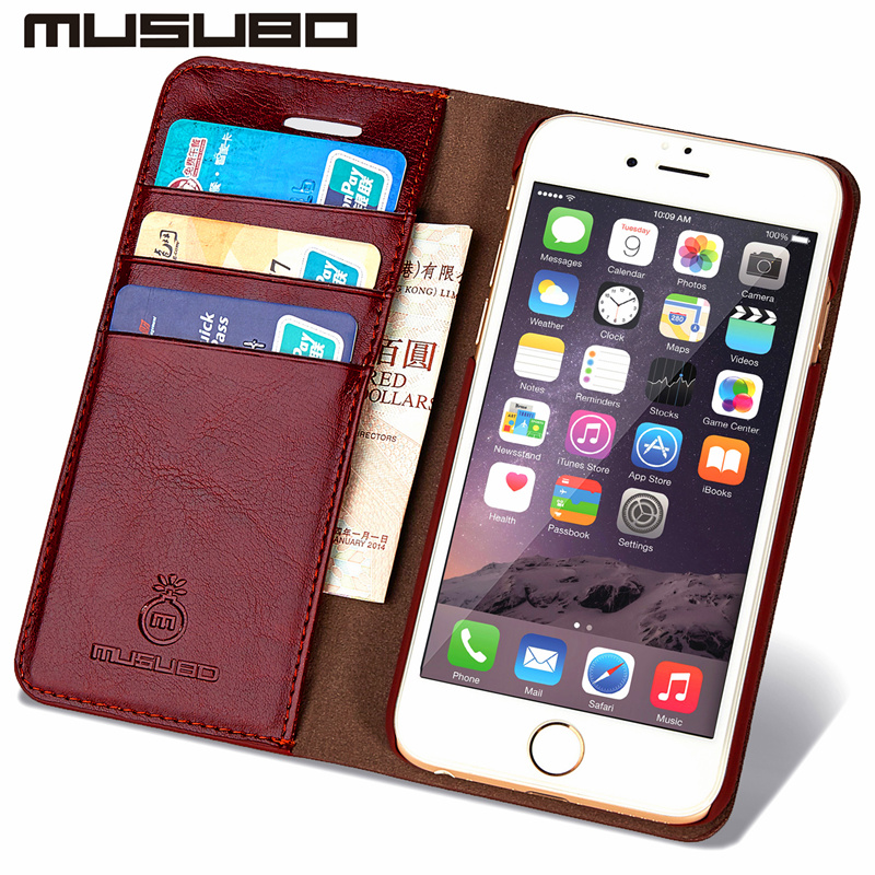 Musubo Luxury Women Wallet Phone Bag Leather Case For iPhone 7 6 6s Plus 5s 5