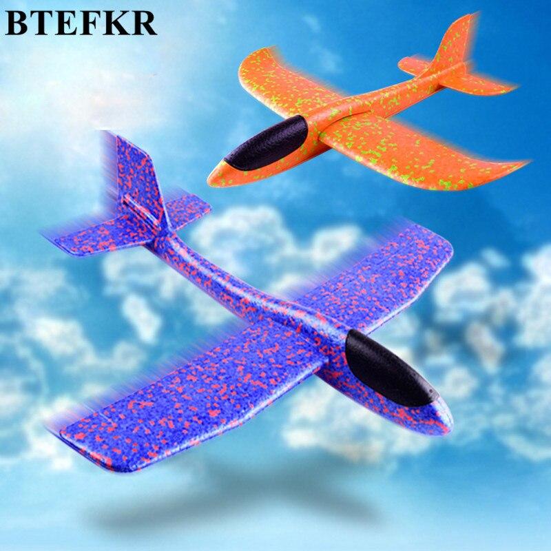 Модель самолета игрушки ручной Бросив планер самолета игрушки пены EVA модель самолета открытый весело спортивная модель самолета интересн...