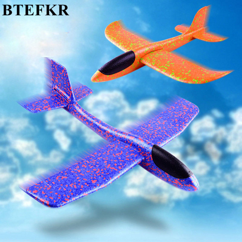 Model airplane toy Hand Throwing Glider Aircraft toys Foam EVA Airplane Model Outdoor Fu ...