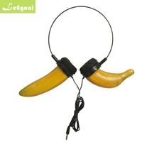 Leegoal Cartoon Shape Cute Banana Headset Carrot Headphone Earphone Earbuds for Pad Smart phone PC for Girl Anchor Cosplay