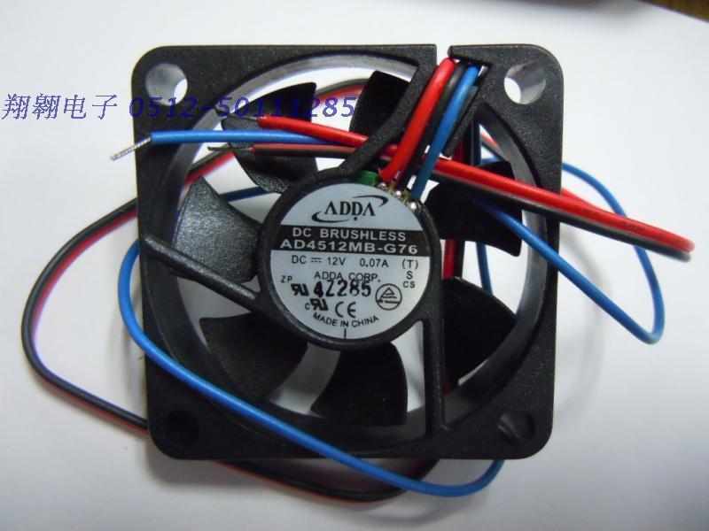 ADDA 4,5 см AD4512MB-G76 4510 12 v 0.07a Малый бесшумный охлаждающий вентилятор