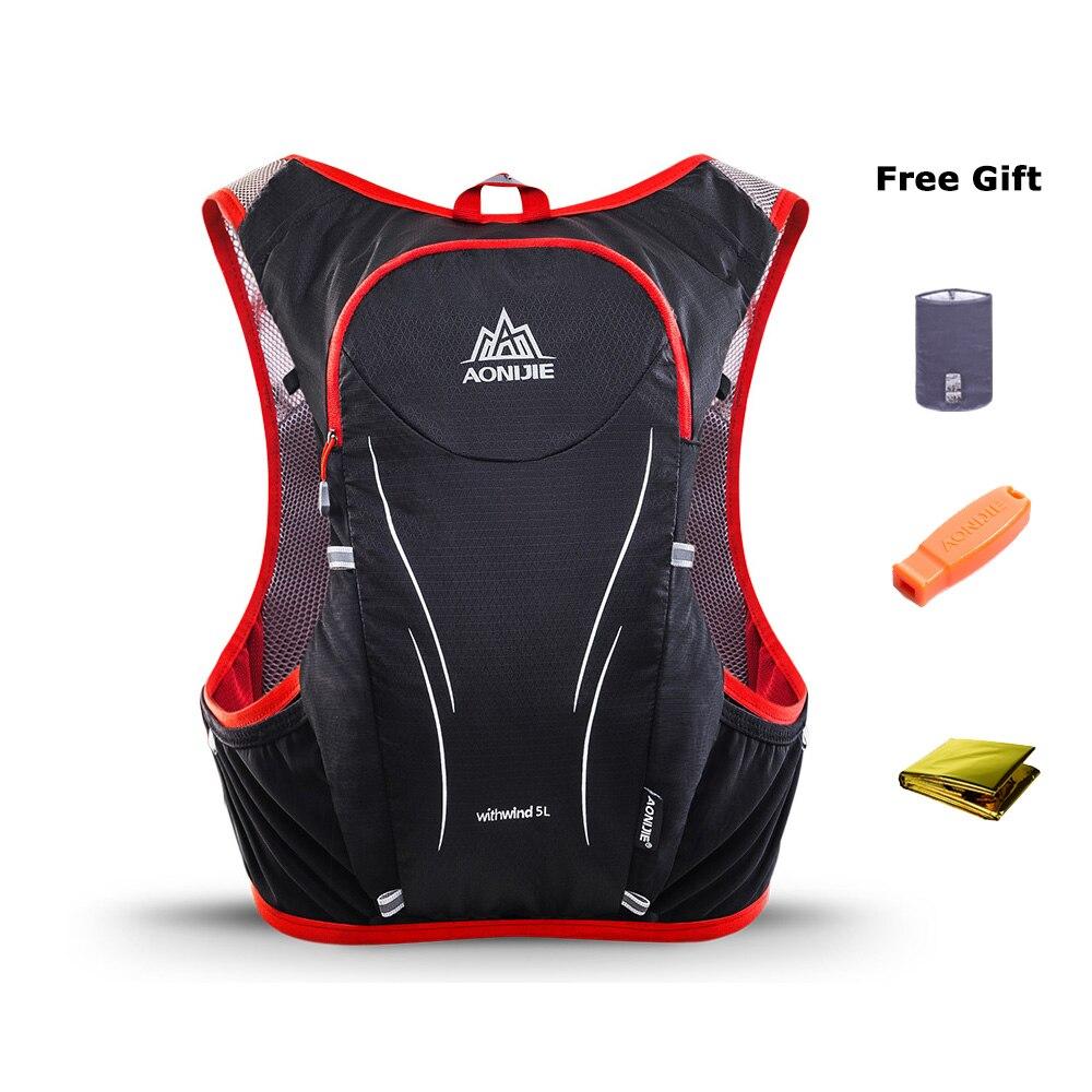 AONIJIE C928 5L sac à dos d'hydratation sac à dos gilet harnais pour 2L vessie d'eau randonnée Camping course Marathon Sports de course - 3