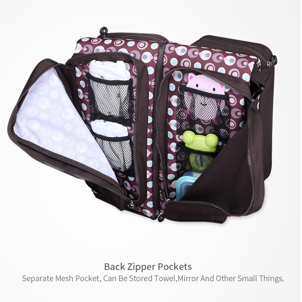 Bolsa de pañales de bebé bolsa de pañales de moda bolsa de papá mochila de cuidado de bebé mamá mochila de viaje bolso de hombro para cochecito de bebé - 4