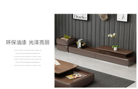 TV stand table living room home furniture modern style fashionable paint wooden leather TV unit cabinet assembly meuble