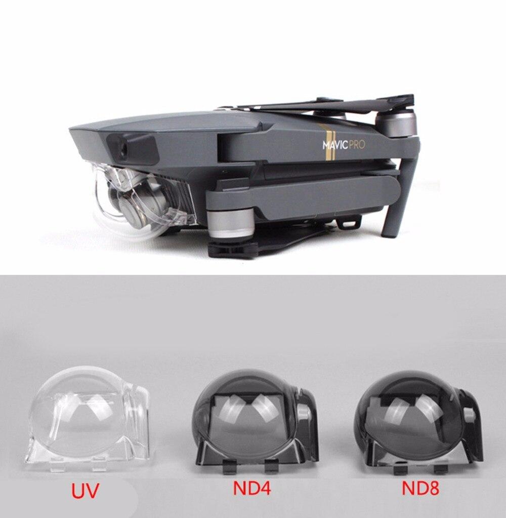 úTil Lens Hood Cubierta Protectora Cardán Cámara Uv Nd4 Nd8 Nd16 Nd32 Filtro Sun Hood Tapa De La Lente Para Dji Mavic Pro Drone Espaà A