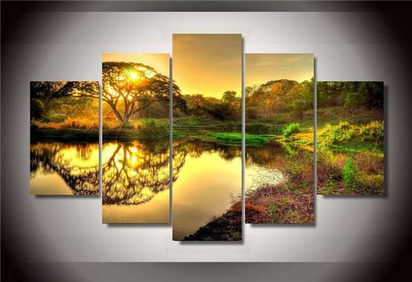 Hd Printed Wild Sunrise Hdr Group Painting Wall Art Canvas Print Room Decor Print Poster Picture Canvas Free Shipping/Ny 1008-in Painting & ...