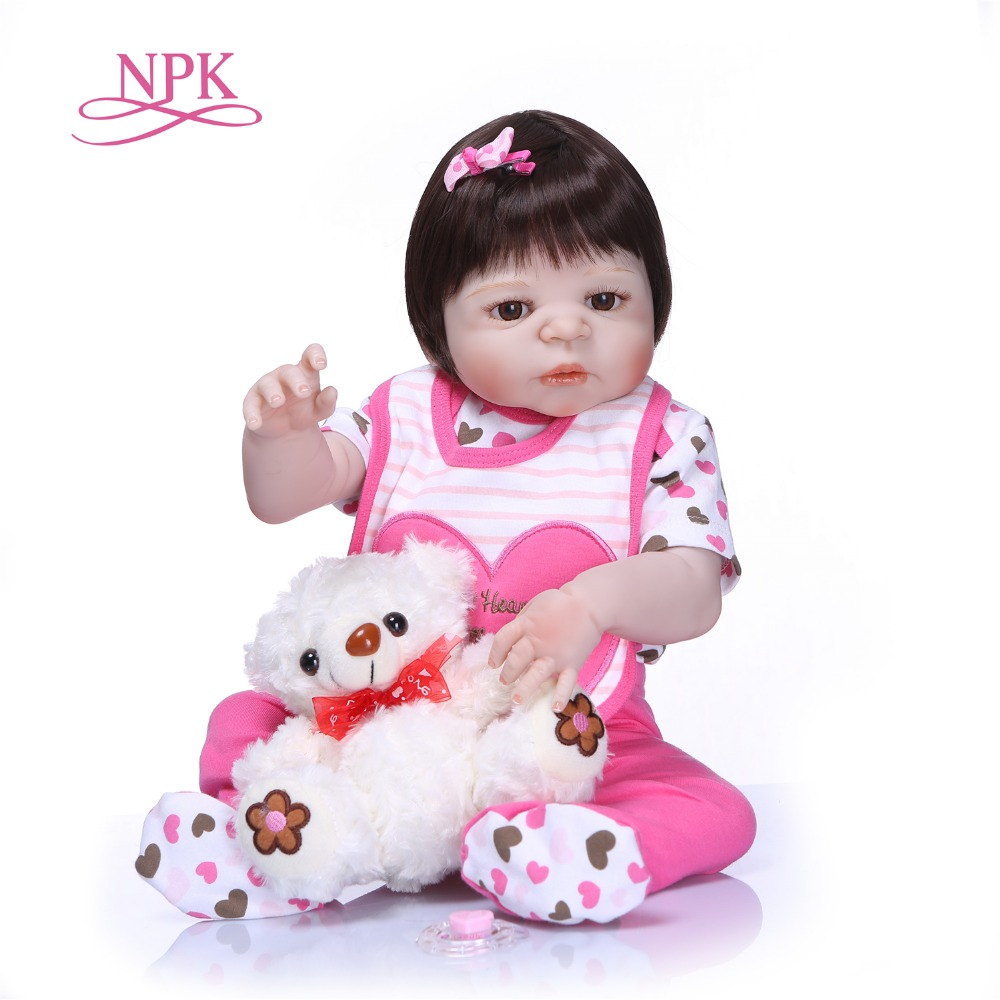 NPK Reborn Baby Doll Princess Girl Dolls Full body Soft Silicone Babies Girls Lifelike Real Bebe Doll Birthday Gift Present Toy цена