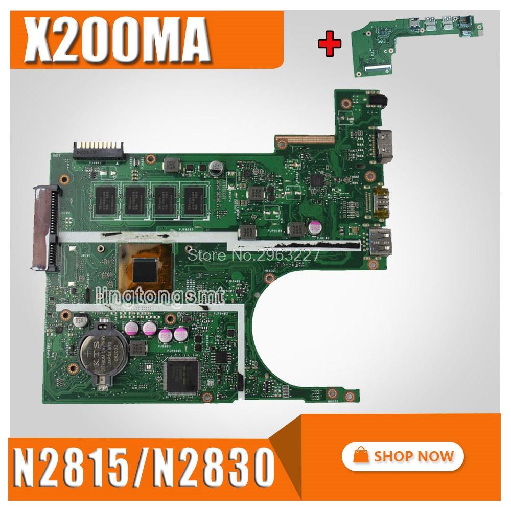 send board+X200MA Motherboard N2815/N2830 REV2.1 2G Memory For ASUS X200M Laptop motherboard X200MA Mainboard X200MA Motherboard send board x200ma motherboard n2815 cpu rev2 1 2g memory for asus k200ma laptop motherboard x200ma mainboard x200ma motherboard