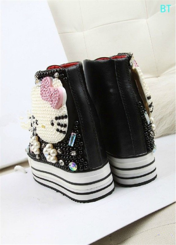 63bbfcf10f70 Latest Platform Shoes Women Desigual Cute Hello Kitty Pattern ...