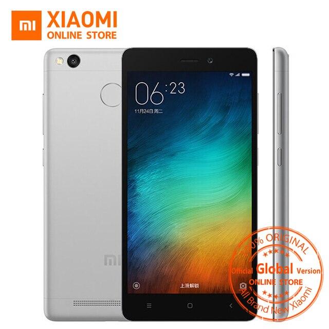 "Officiel Mondial version Xiaomi Redmi 3 S Premier Octa core 3 GB Mobile Téléphone Snapdragon 430 4100 mAh 5.0 ""32 GB OTA B7 B20 MIUI8.1"