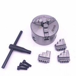 3 inch 3 Jaw K11-80 Mini Klauwplaat Zelfcentrerend K11 80 80mm met Wrench & Schroeven Gehard Staal voor Boren Freesmachine