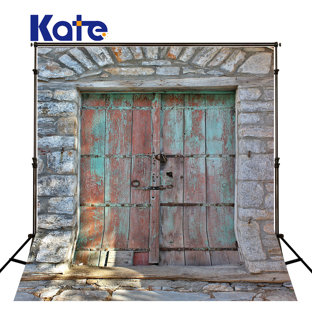 Kate Retro Brick Photographic Background  Old Door Photography Backgrounds Children Backgrouds For Photo Studio kate photographic background wood paneled walls of old letters newborn photography photocall interesting camera fotografica
