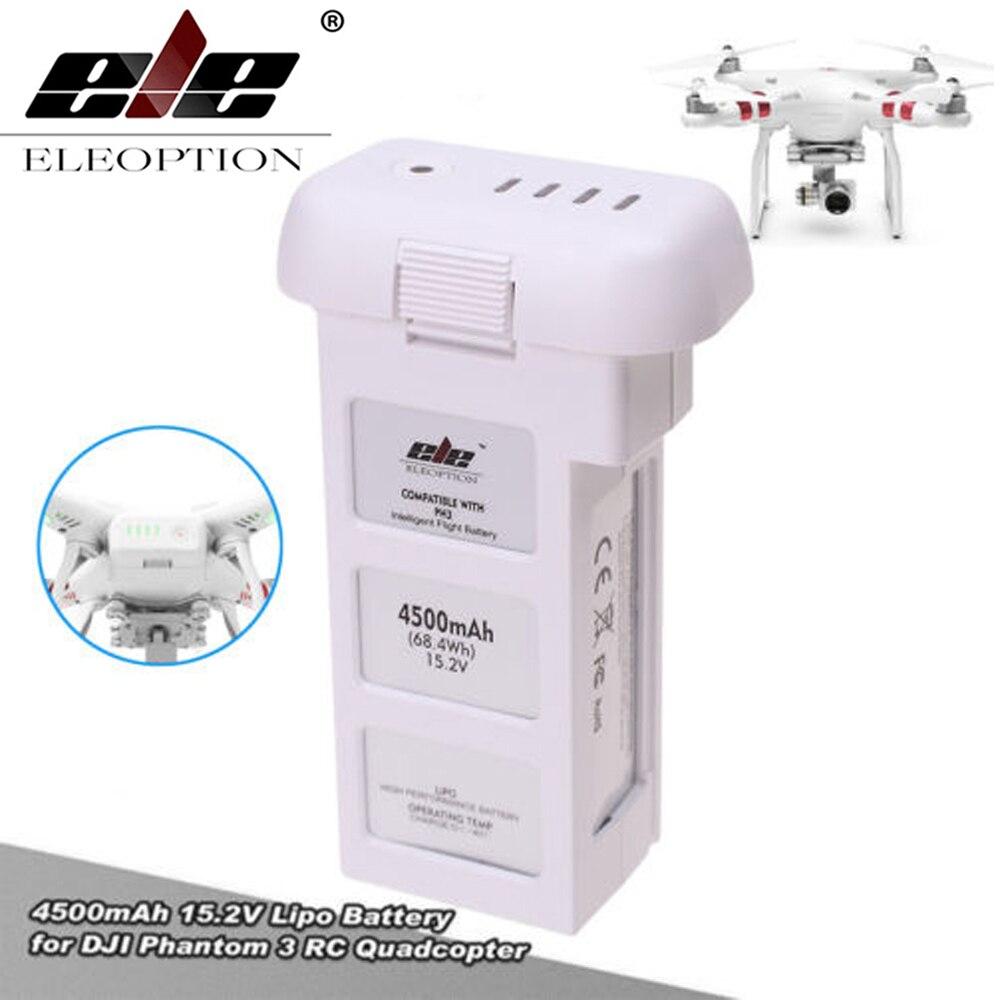 ELEOPTION 15.2V 4500mAh 4S Intelligent Flight Battery For DJI Phantom 3 & Phantom 3 Standard high quality hot lipo 15 2v 4500mah rechargeable battery for dji phantom 3 professional akku free shipping