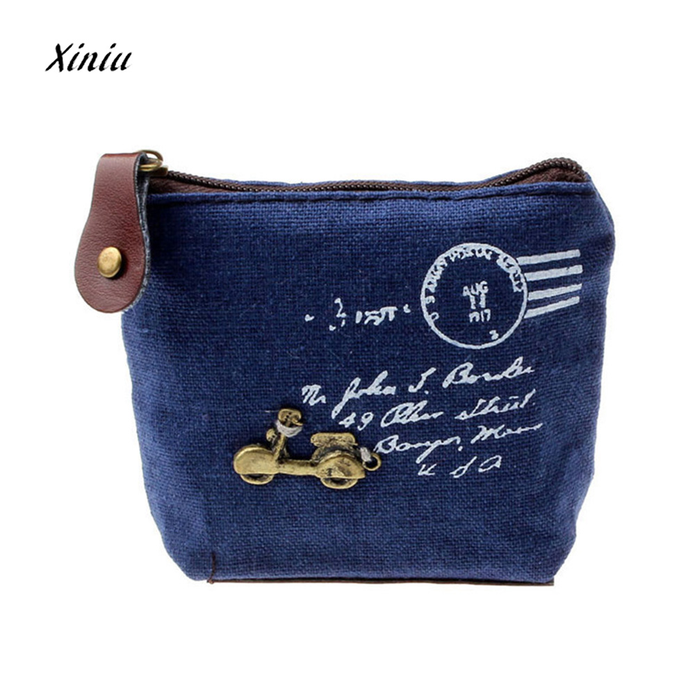 2017 Vintage Fashion Women Coin Purses Retro Coin Purse Bag Lady Girl Zipper Wallet Credit Card Holder Small Case Handbag Gift fashion women coin purses dots design mini girl wallet triple zipper clutch bag card case small lady bags phone pouch purse new
