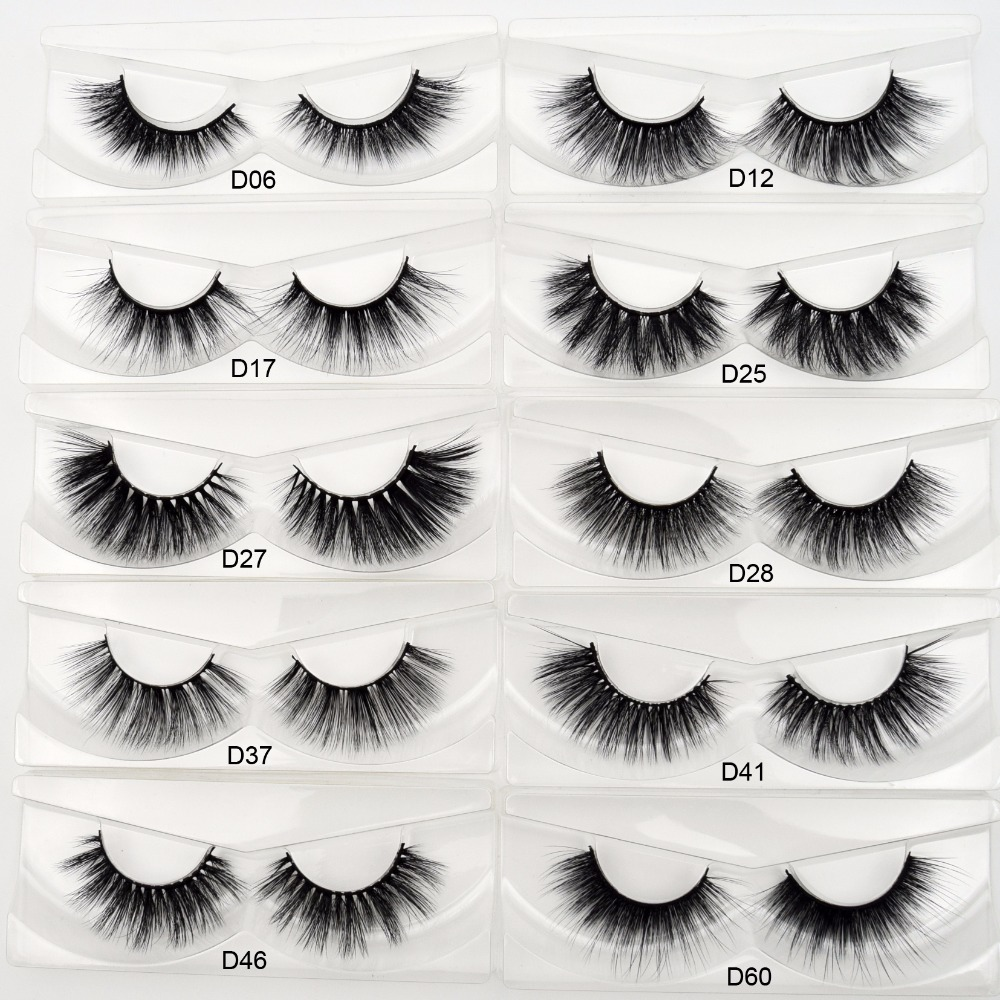 Wholesale Free DHL 100 Pairs Silk Eyelashes Cruelty Free 3D Faux Mink Lashes Hand Made False