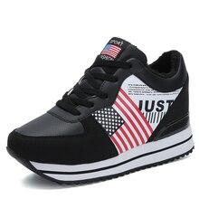 822adad7c1 Sycatree Winter Casual Schuhe für Frauen Höhe Erhöhte Innerhalb Schuhe mit  Warmen Fell amerikanischen flagge Sport Schuhe Frauen.