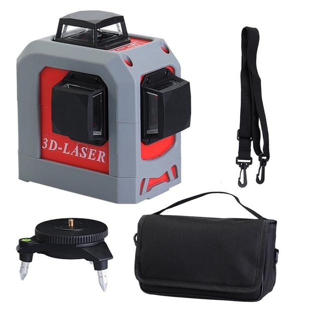 Professionele 3D 12 lijnen laser level 360 Verticale En Horizontale zelfnivellerende Cross Lijn Rode Beam nivel laser Leveling tool