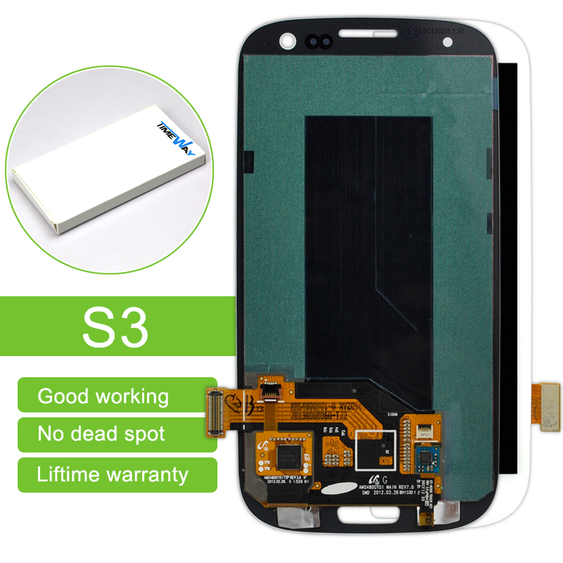 10Pcs White/blue 100% Test Lcd Display Touch Screen Digitizer Assembly Without Frame For Samsung S3 I9300 Free Shipping 1 pcs for iphone 4s lcd display touch screen digitizer glass frame white black color free shipping free tools