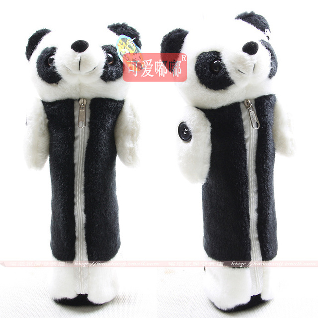 Giant panda plush toy pencil case animal doll mobile phone bag coin purse storage bag for birthday gift