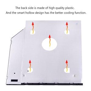 "CHIPAL 10 шт. Универсальный 2-й HDD Caddy 9,5 мм SATA 3,0 для 2,5 ""2 T SSD корпус жесткого диска со светодиодом для ноутбука ODD CD DVD-ROM"