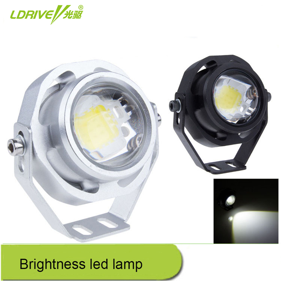 1Pcs Super Bright DC12V Car Eagle Eye Waterproof Brightness Led Lamp Auto White Light Daytime Running Reverse Backup Parking auto super bright 3w white eagle eye daytime running fog light lamp bulbs 12v lights car light auto car styling oc 25