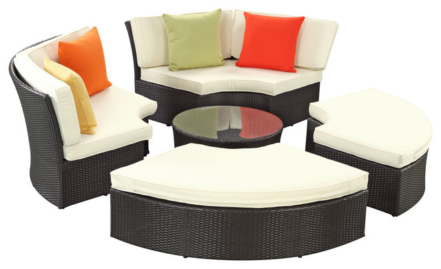 US $899.0 |Best Selling Outdoor Wicker Patio Furniture Round Daybed Set-in  Garden Chairs from Furniture on AliExpress