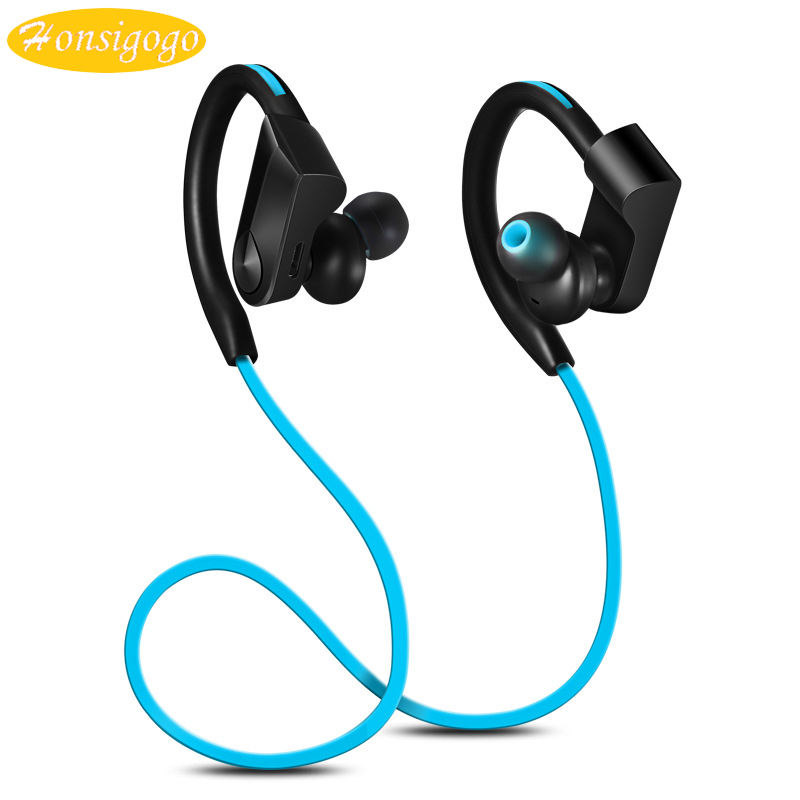 Honsigogo Sport Bluetooth Earphone Sweat Proof Wireless Stereo Ear Hook Running Earbuds with Microphone for Universal Phones songful s1 stereo deep bass earphone sport running headset sweat proof ear hook earbuds hifi handsfree with mic for iphone mp3 4