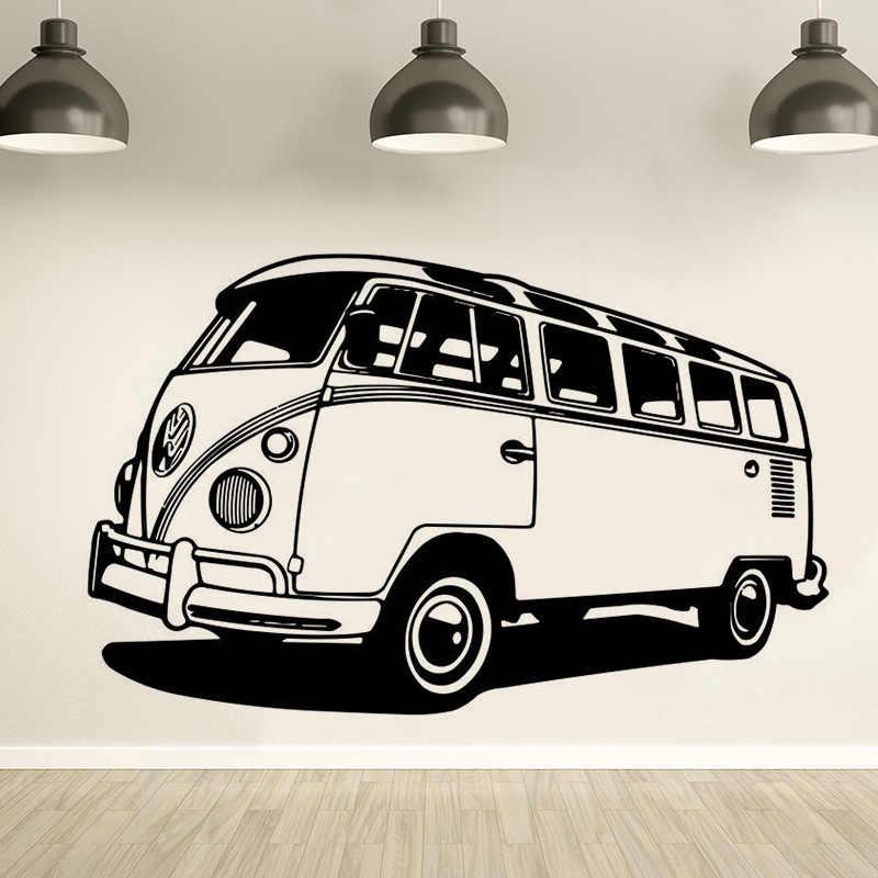 Camper Van Vinyl Wall Car Sticker Decal in 12 Colours