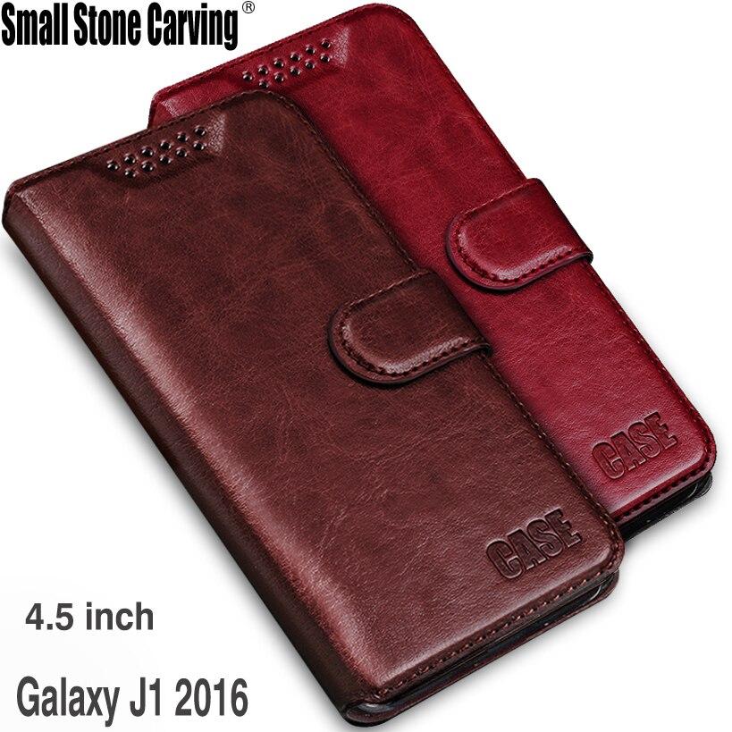 En cuir étui pour samsung J1 2016 Flip étui pour samsung Galaxy J1 2016 J120 J120F J1 (6) SM-J120F/DS 4.5 pouces Téléphone Sacs et Étuis
