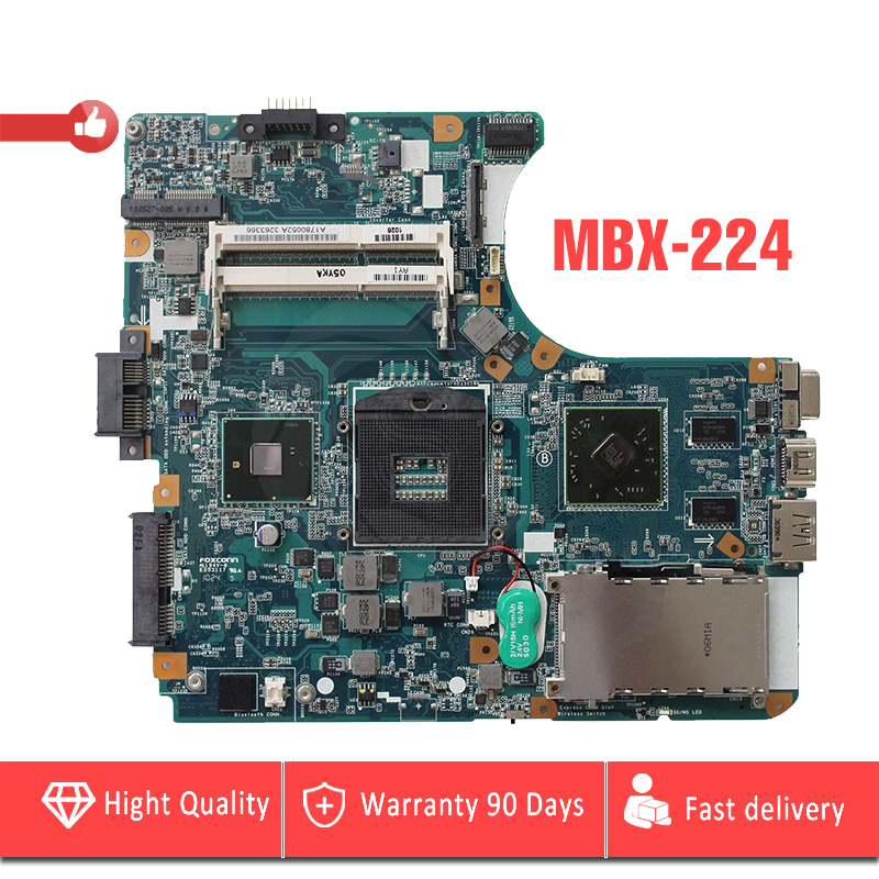 YTAI MBX-224 for Sony M960 MBX-224 laptop Motherboard A1780052A HM55 DDR3 REV:1.1 1P-009CJ01-8011 Mainboard Fully Tested laptop motherboard for sony vgn fw a1727021a mbx 189 m763 1p 0091j00 8010 pm45 ati 216 0729042 ddr3