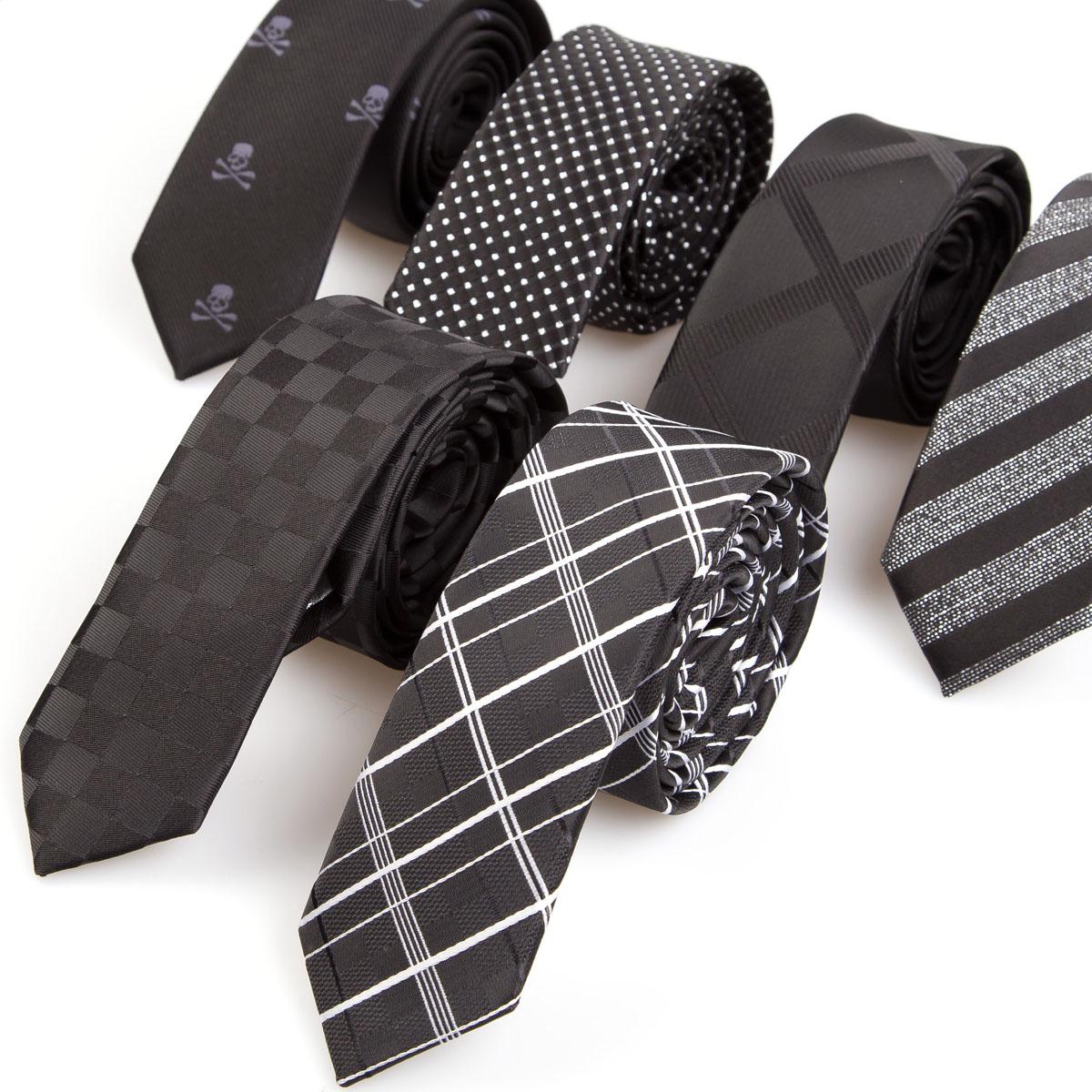 Narrow 5cm Men Tie Nano Waterproof Striped Plaid Casual ...