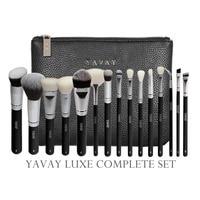 YAVAY 15 Pcs LUXE Complete Makeup Brushes Set Professional Luxury Set Make Up Tools Kit Powder