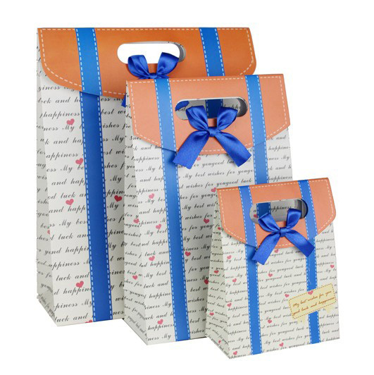 12 4 16 3 6cm Letter Pinted Decorative Handmade Paper Gift Bag Party