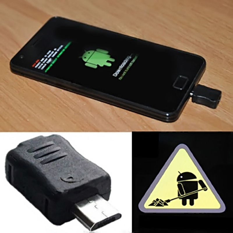 High Quality Micro USB Jig Download Mode Dongle For Samsung Galaxy S4 S3 S2 S S5830 N7100 Repair Tool 1pcs