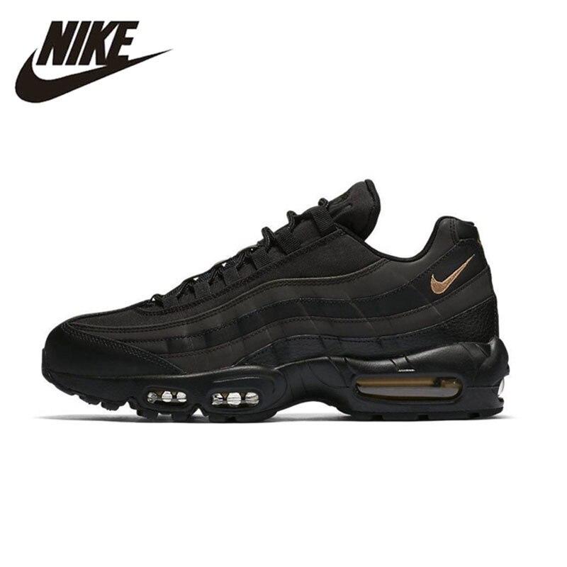 NIKE AIR MAX95 PREMIUM SE Original noir or hommes chaussures de course respirant Massage baskets pour hommes chaussures #924478-003