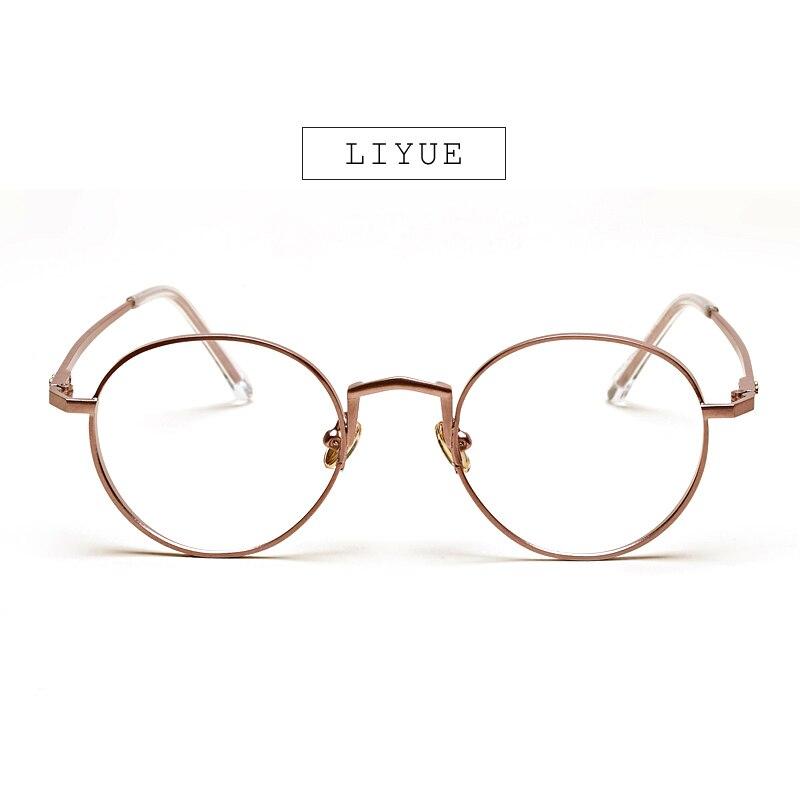 LIYUE Moda kadın gözlük Retro vintage yuvarlak metal çerçeve - Elbise aksesuarları - Fotoğraf 3