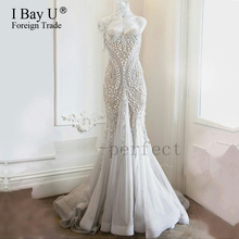 Vestido De Noiva 3D Embroidery Mermaid Wedding Dresses Boho