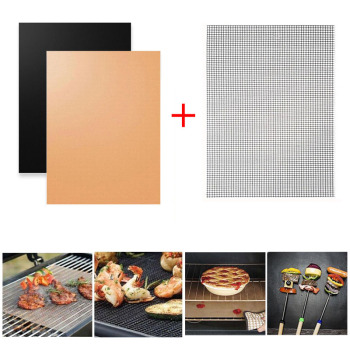 BBQ grill mat copper set of 3
