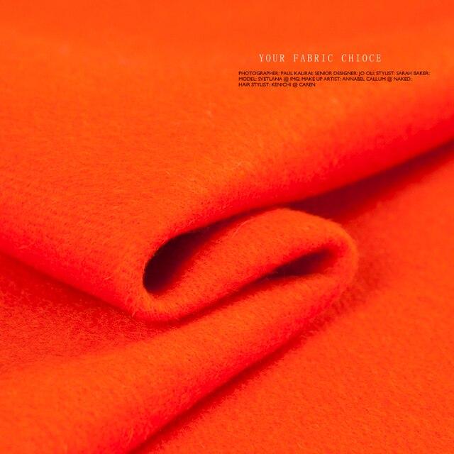 Kaschmir wolle stoff, Orange farbe, Doppelschichten und seiten stoff ...