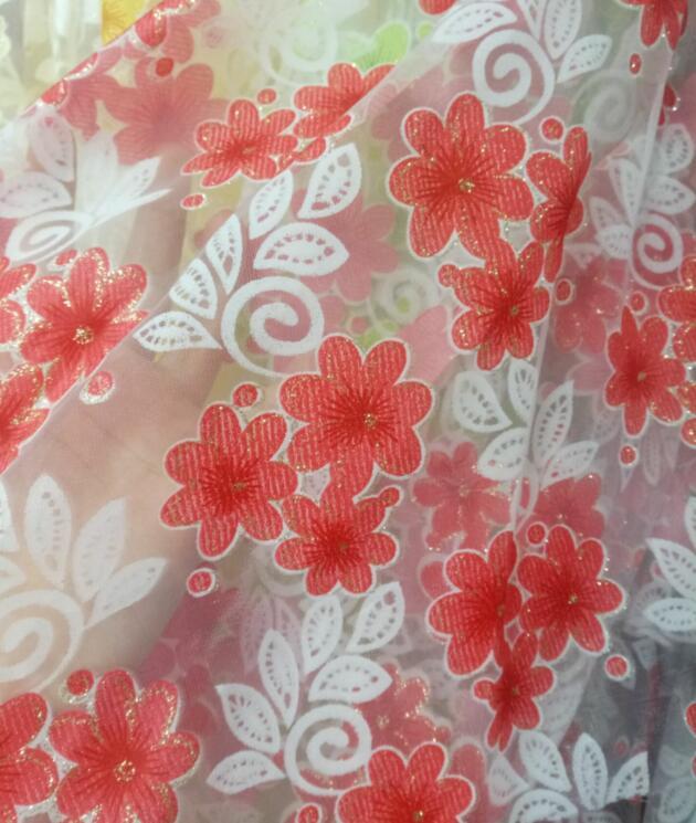 """Tela con Estampado Floral de mezcla de algodón lino verano Confección Material 150cm//60/"""""""