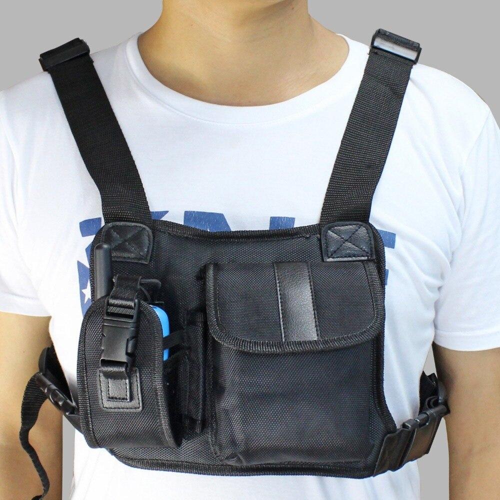 Walkie talkie Brust Tasche Rucksack Schwarz für Ham CB Radio sehr bequem tragen tasche J6502A