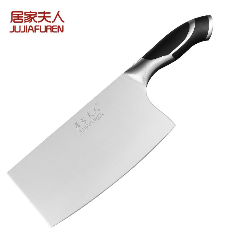 Free Shipping JJFR Stainless Steel Kitchen Slicing Meat Chop Bone Dual purpose font b Knife b