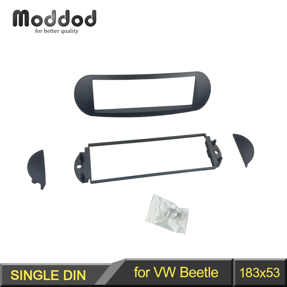 Single DIN coche estéreo radio instalación Kit Adaptador Facia VW NEW BEETLE..