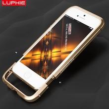 Для iphone 5 5s se металлический каркас case + кожаный чехол стикер оригинальный luphie меч протектор долгую жизнь никогда не увядает легко установить