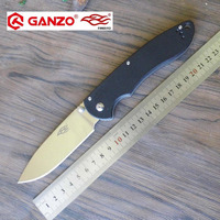 58 60HRC Ganzo G740 440C blade G10 Handle Folding knife Survival Camping tool Hunting Pocket Knife tactical edc outdoor tool