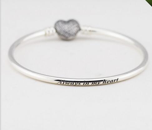 edef6406c28 100% 925 sterling silver original Fits pandora bracelets bangle love ...