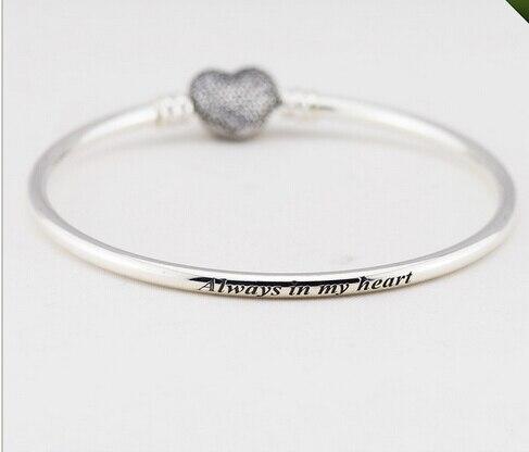 12ce369f38cad 100% 925 sterling silver original Fits pandora bracelets bangle love ...