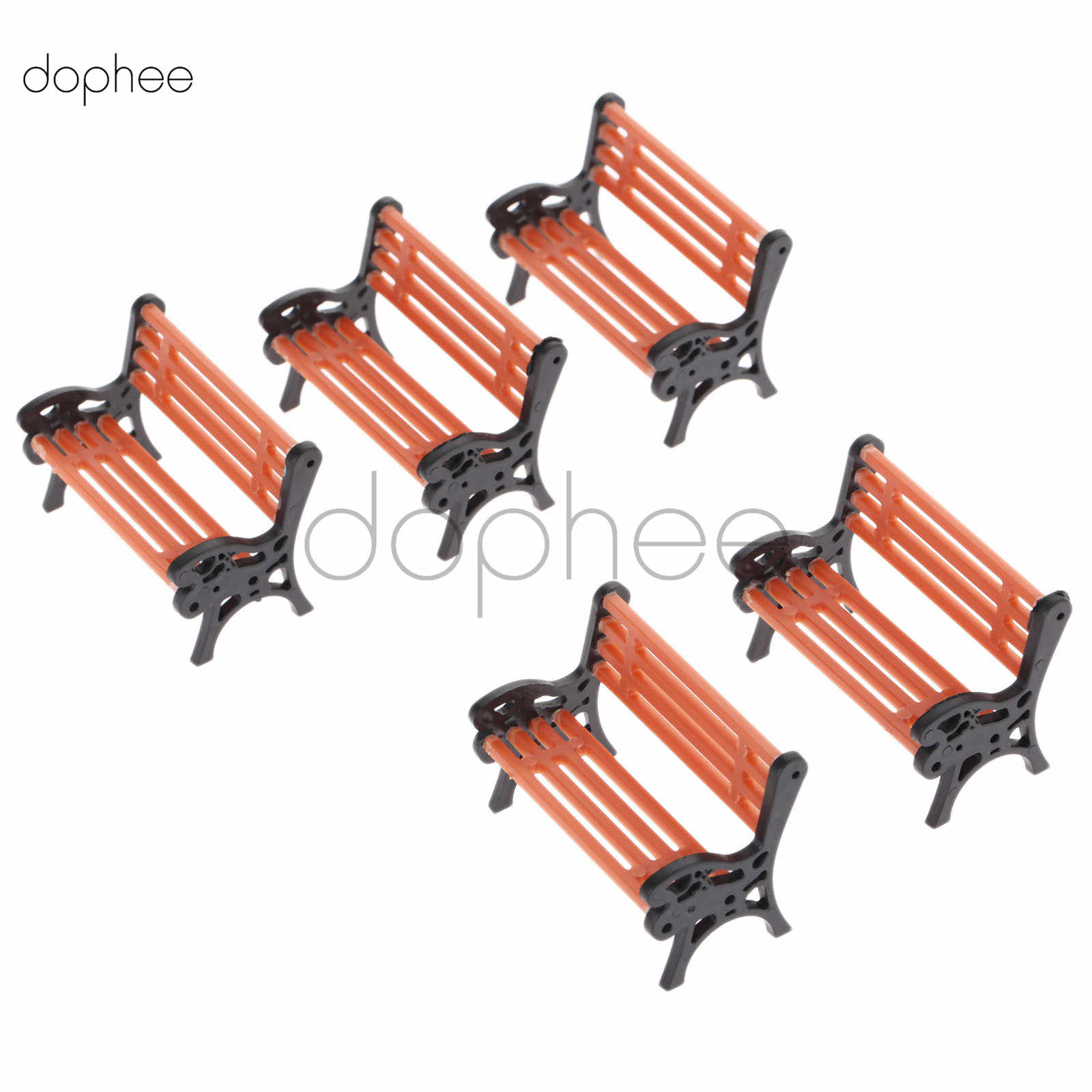 Excellent Dophee 5Pcs Model Park Bench 1 30 Mini Garden Ornament Camellatalisay Diy Chair Ideas Camellatalisaycom